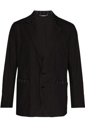 Dolce & Gabbana Men Blazers - Stripe-trim single-breasted blazer