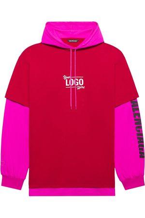 Balenciaga Hoodies - Oversize layered T-shirt hoodie
