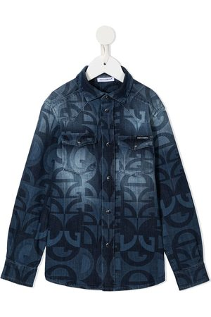 Dolce & Gabbana Logo-print denim shirt