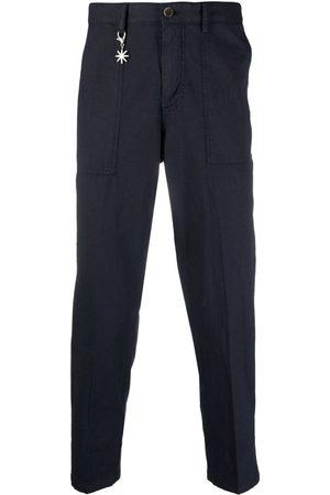 Manuel Ritz Charm-detail garment-dyed trousers
