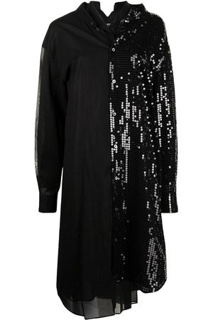 JUNYA WATANABE Women Casual Dresses - Sequin-panelled shirt dress