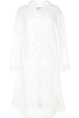 JUNYA WATANABE Sequin-embellished sheer shirt dress