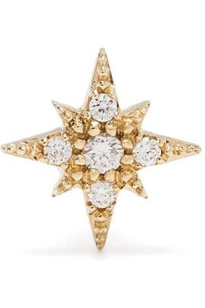 Mizuki 14kt yellow diamond star single earring