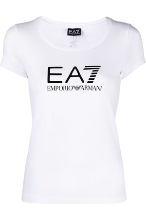 EA7 Scoop-neck logo T-shirt