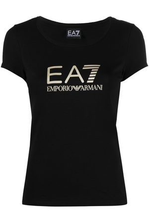 EA7 Women T-shirts - Scoop-neck logo T-shirt