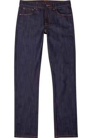 Nudie Jeans Lean Dean dark slim-leg jeans