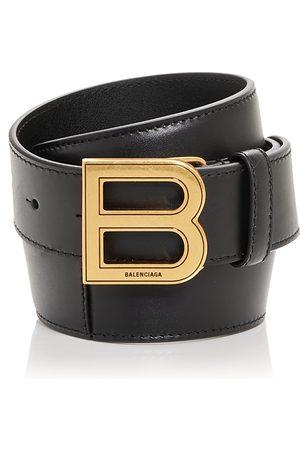 Balenciaga Men's Hourglass Large Leather Belt