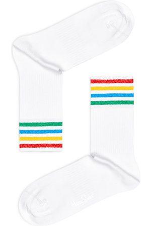 Happy Socks Women Socks - Color Cuff Crew Socks