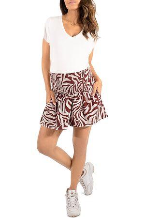 Ingrid & Isabel Women Shorts - Maternity Animal Stripe Everywear Shorts
