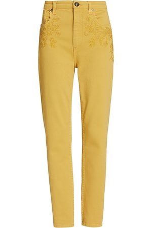 Etro Women's Embroidered Skinny Jeans - - Size 28