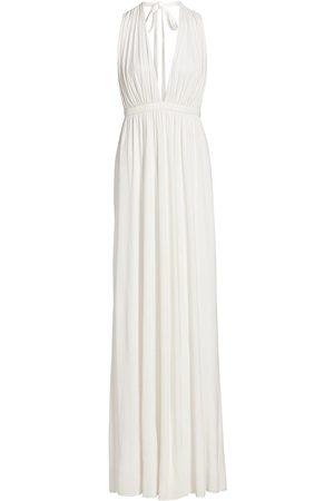 Halston Heritage Women's Freida Plunging Open-Back Jersey Gown - Pristine - Size 6