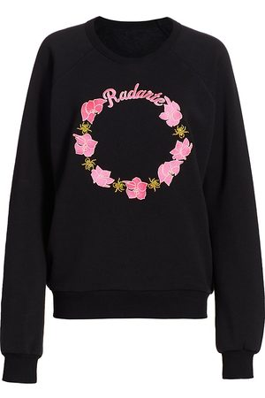 RODARTE Women's Orchid Radarte Embroidery Sweatshirt - - Size Large