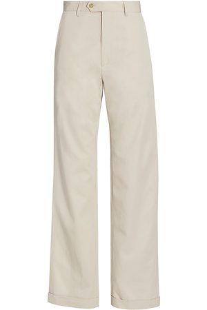 Deveaux New York Women's Jenna Straight-Leg Pants - Ecru - Size 2