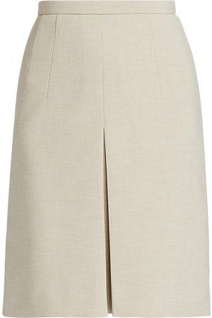 AKRIS Women's Pebble Crepe Front Pleat Skirt - Sake - Size 14