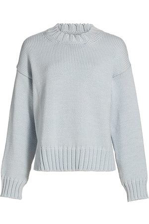 Deveaux New York Women's Romy Boxy Crewneck Sweater - Merino - Size XS