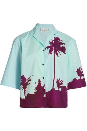 DRIES VAN NOTEN Women's Palm Short Sleeve Shirt - - Size 2