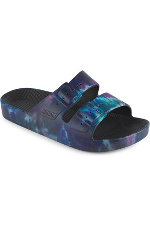 Freedom Moses Little Kid's & Kid's Double Buckle Slides - Cosmic - Size 1 (Child) Sandals
