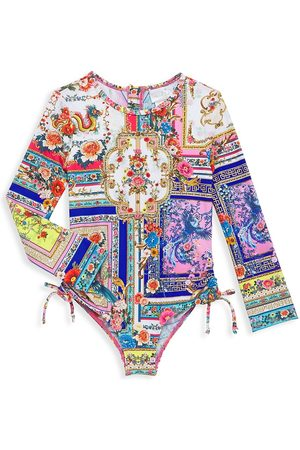 Camilla Little Girl's & Girl's If Palace Walls Could Talk Ruched Paddlesuit - Size 6