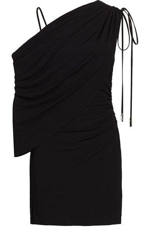 Halston Heritage Women Evening dresses - Women's Randy One-Shoulder Sheath Dress - Jet - Size 16