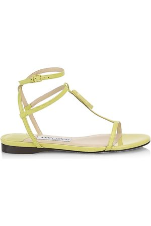 Jimmy Choo Women's Alodie Leather Sandals - Sun Bleached - Size 9.5
