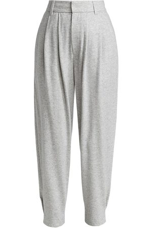Brunello Cucinelli Women's Pleated Cashmere Knit Pants - Perla - Size 2