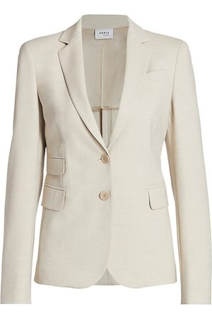 AKRIS Women's Pebble Crepe Blazer Jacket - Sake - Size 10