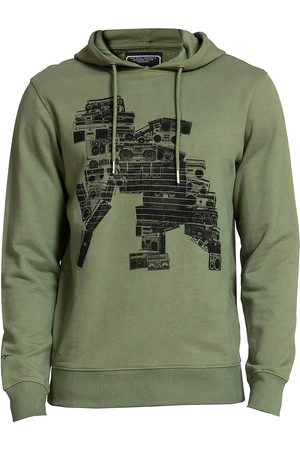 PRPS Men's Deming Graphic Hoodie - Army - Size Small