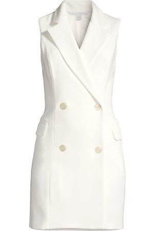 Black Halo Women's Rio Sleeveless Blazer Dress - Porcelain - Size 0