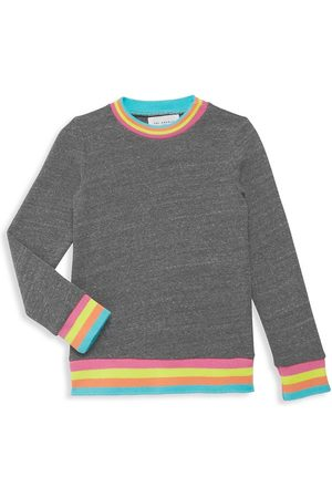 SOL ANGELES Little Girl's & Girl's Neon-Trim Sweatshirt - Heather - Size 10