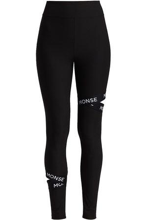 MONSE Women's Graphic Cutout Leggings - - Size XS