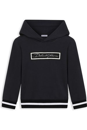 Dolce & Gabbana Boys Hoodies - Little Boy's and Boy's Box Logo Hoodie - Dark - Size 10