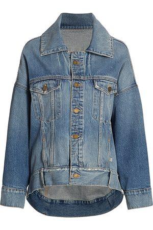 MONSE Women's Lace-Up Denim Jacket - Indigo - Size Medium