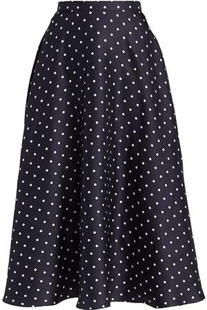 RODARTE Women's Polka Dot Midi Skirt - And - Size 12