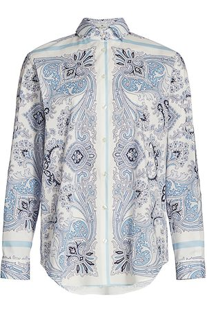Etro Women Blouses - Women's Mirror Paisley Button-Down Blouse - - Size 10