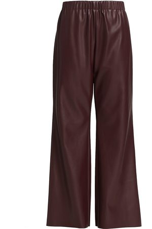 Deveaux New York Women's Savannah Faux Leather Pants - Burgundy - Size 2