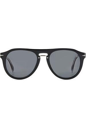 David beckham Men's 52MM Round Optical Glasses With Sun Clip