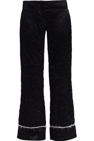 Marina Moscone Women's Cuffed Wide-Leg Trousers - - Size 0