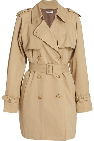 CO Women's Double-Breasted Trench at - - Size Small