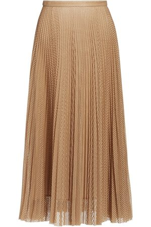 AKRIS Women's Sakura Dot Lace Midi Skirt - Sake - Size 10