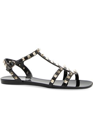 VALENTINO Women's Garavani Rockstud PVC Gladiator Sandals - - Size 11