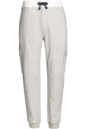 Brunello Cucinelli Men's Drawstring Cargo Sweatpants - Grey - Size XXL