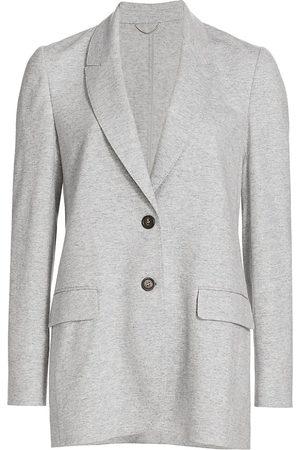 Brunello Cucinelli Women's Cashmere Knit Jacket - Perla - Size 4