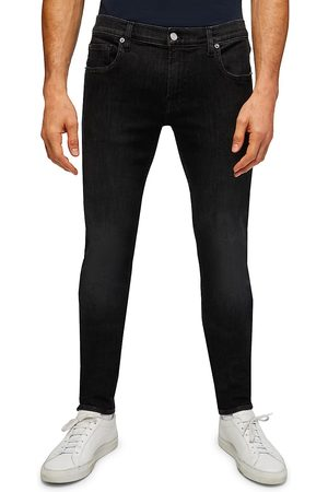 7 for all Mankind Men's Stacked Washed Skinny Jeans - Washed - Size 36