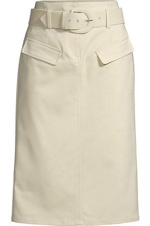 Donna Karan Women's Tech Belted Pencil Skirt - Khaki - Size 10