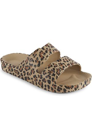 Freedom Moses Little Girl's & Girl's Leopard Double-Buckle Slide Sandals - Wildcat Sands - Size 10 (Toddler)