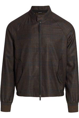 Ermenegildo Zegna Men's Bomber Jacket - Dark Check - Size 40
