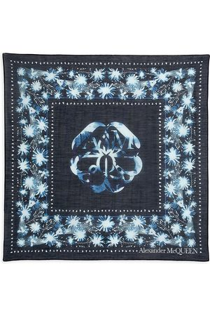 Alexander McQueen Women's Solarized Cotton & Silk Bandana - Navy Sky