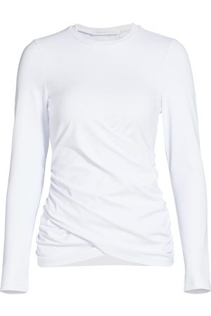 Susana Monaco Women's Twist-Front Long-Sleeve Top - Sugar - Size Medium