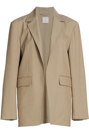Deveaux New York Women's Blake Twill Blazer - - Size Large
