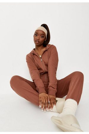 Missguided Drawstring Jogger Cuff Hooded Loungewear Romper